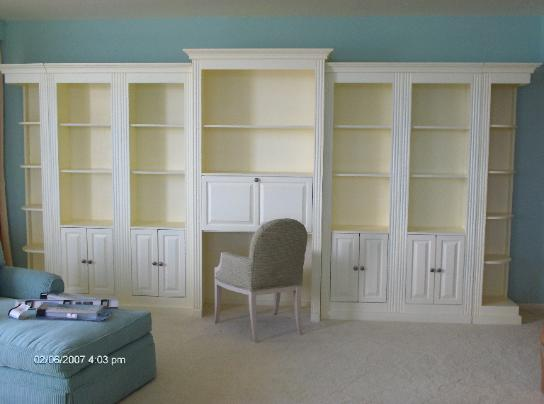 Custom Sectional Shelving with Planning Desk
